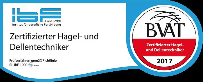 Zertifizierung Hagel- und Dellentechniker
